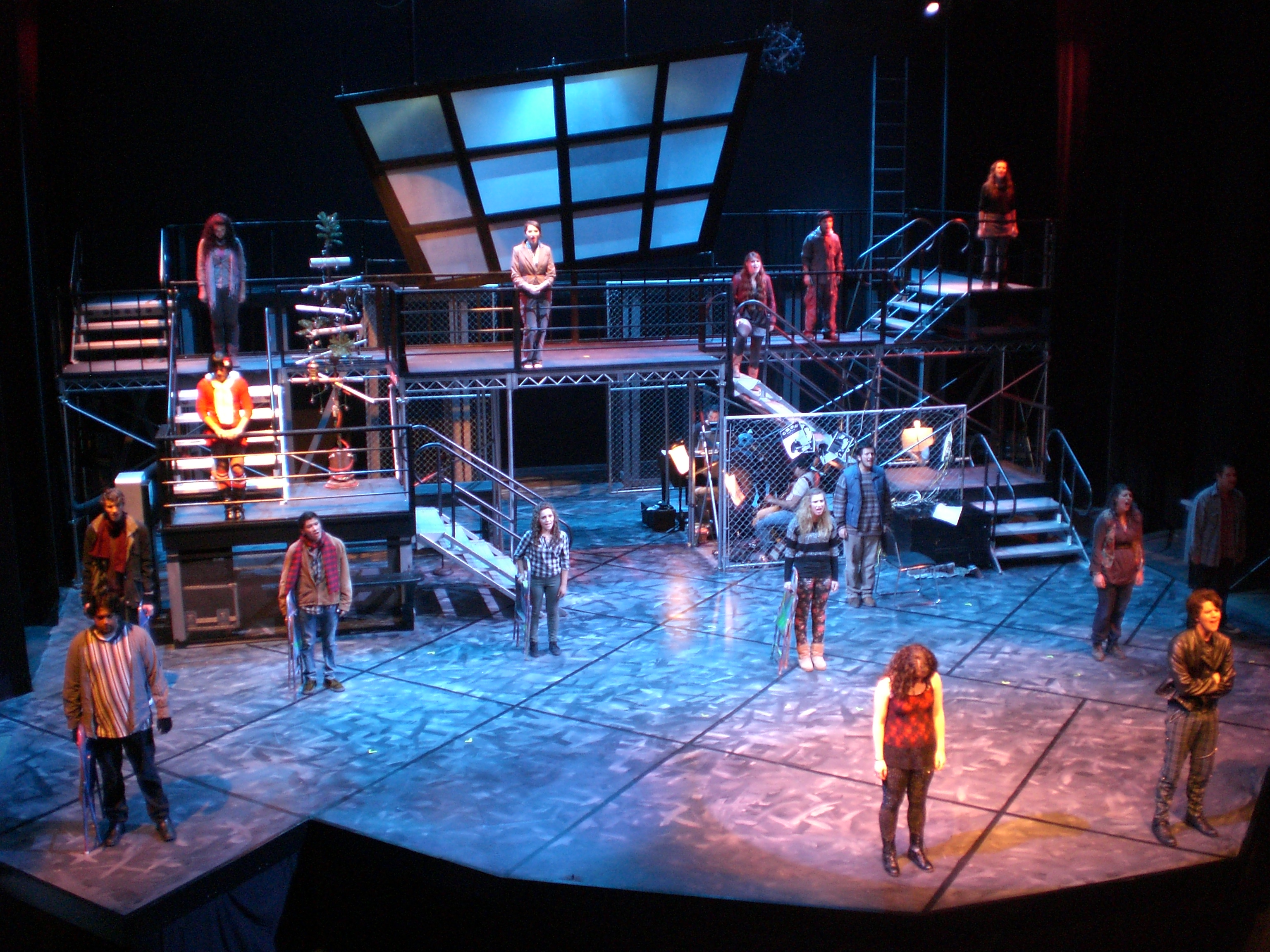 SCENIC & LIGHTING DESIGN: RENT Whittier College 2011