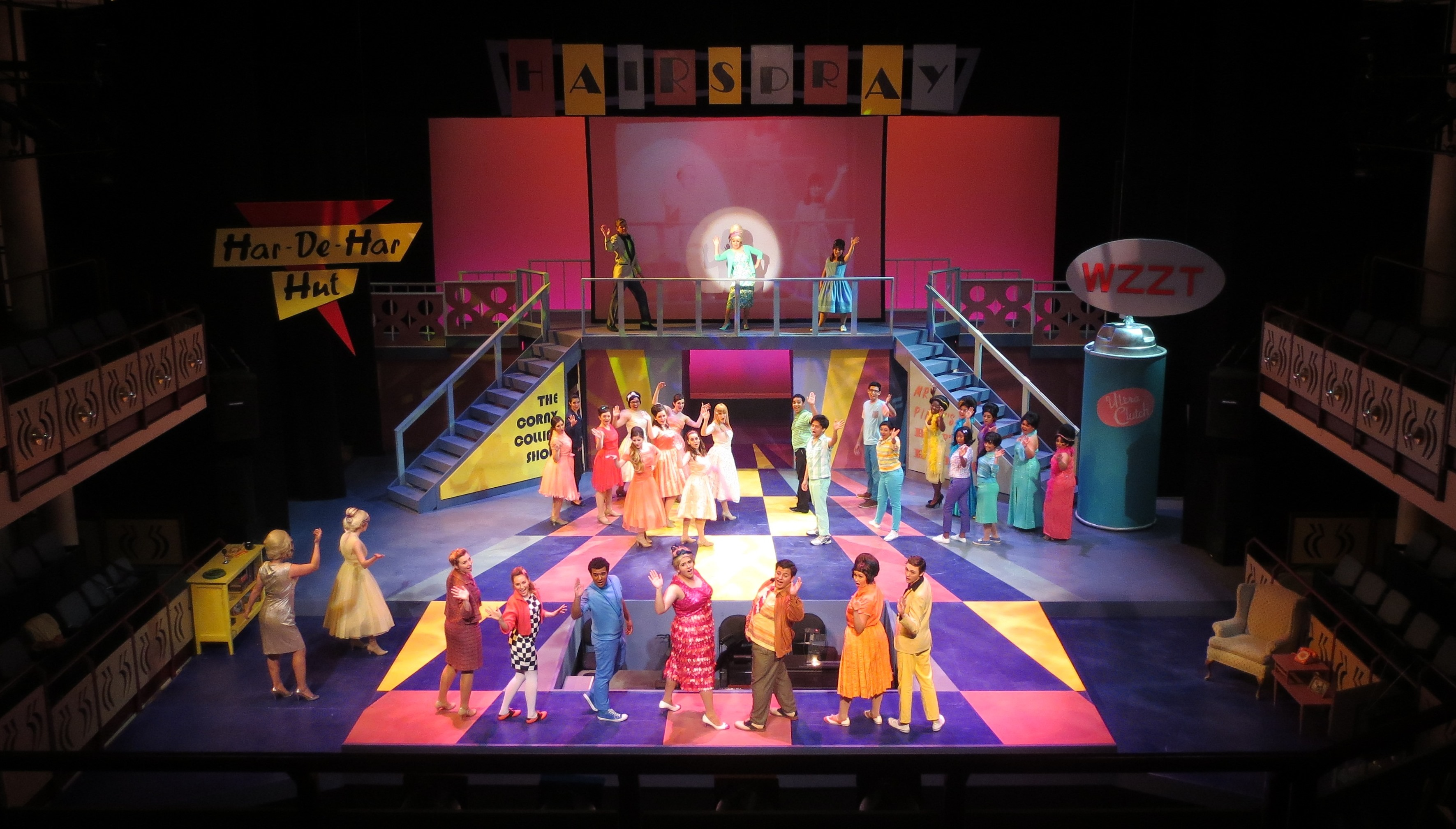 SCENIC DESIGN: Hairspray Whittier College 2014