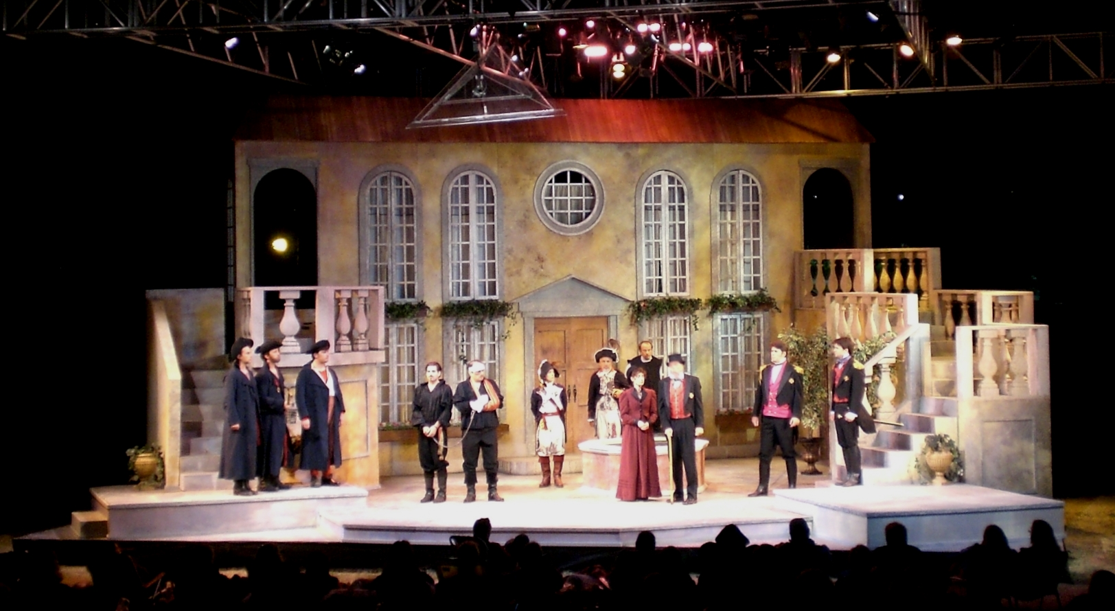 SCENIC DESIGN: Much Ado About Nothng Kingsmen Shakespeare Festival 2012