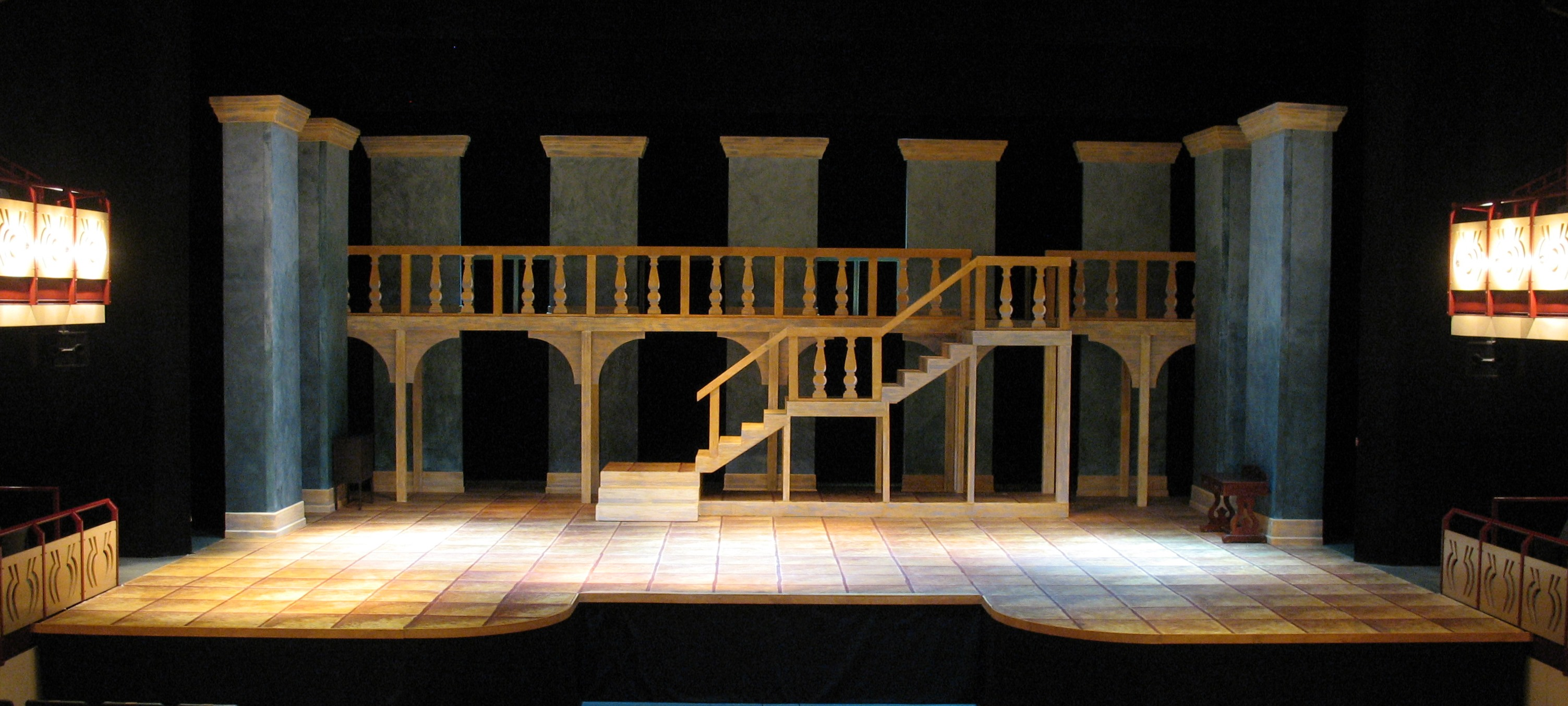 SCENIC & LIGHTING DESIGN: Pride and Prejudice Whittier College 2008