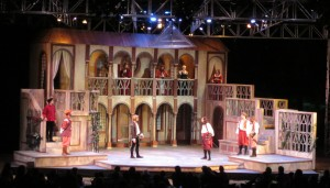 SCENIC DESIGN: Romeo & Juliet Kingsmen Shakespeare Company 2012