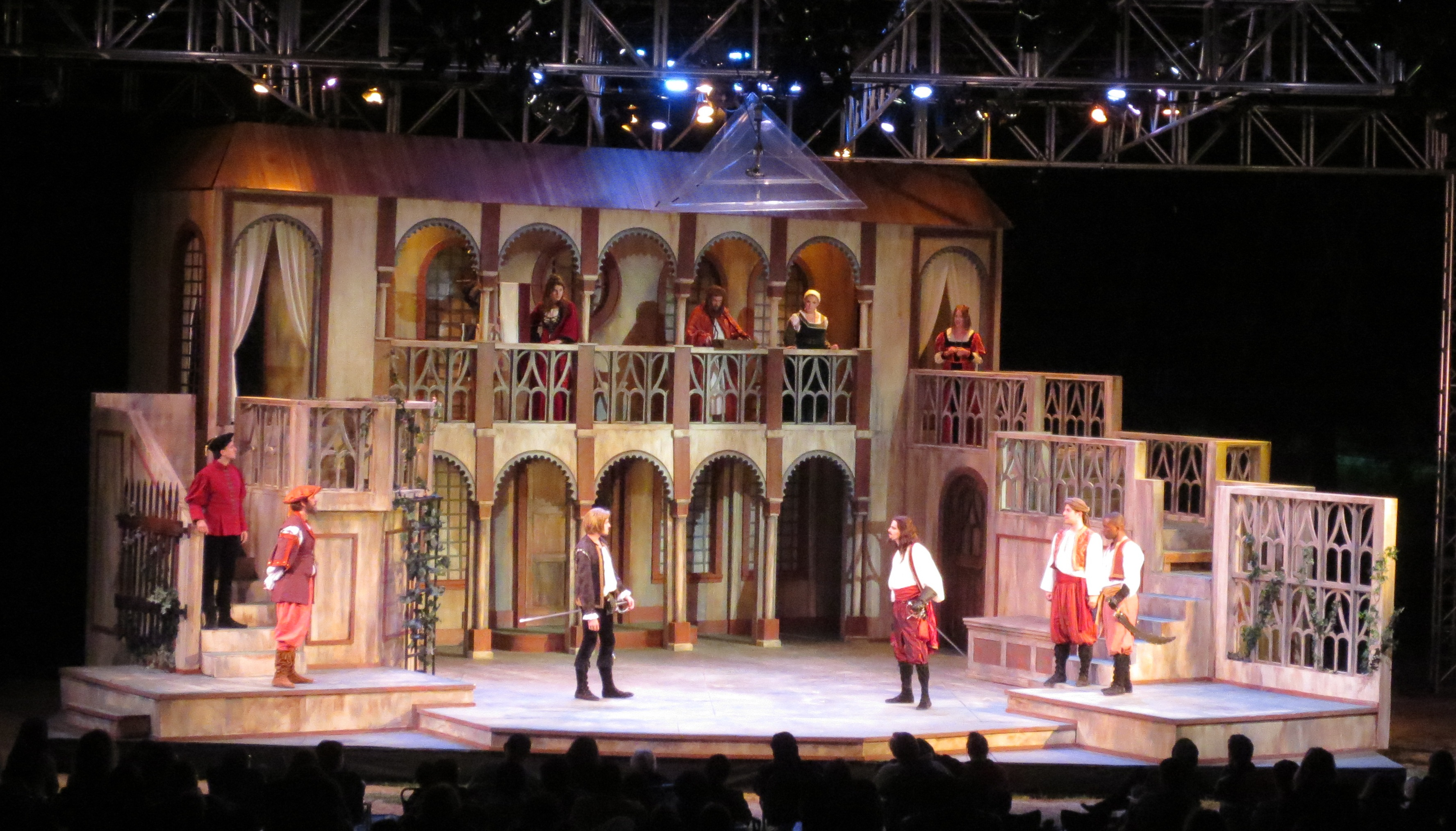SCENIC DESIGN: Romeo & Juliet Kingsmen Shakespeare Festival 2012