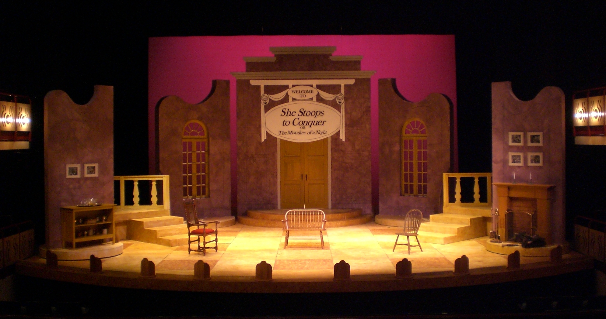 SCENIC DESIGN: She Stoops to Conquer - Pre-show Whittier College 2012