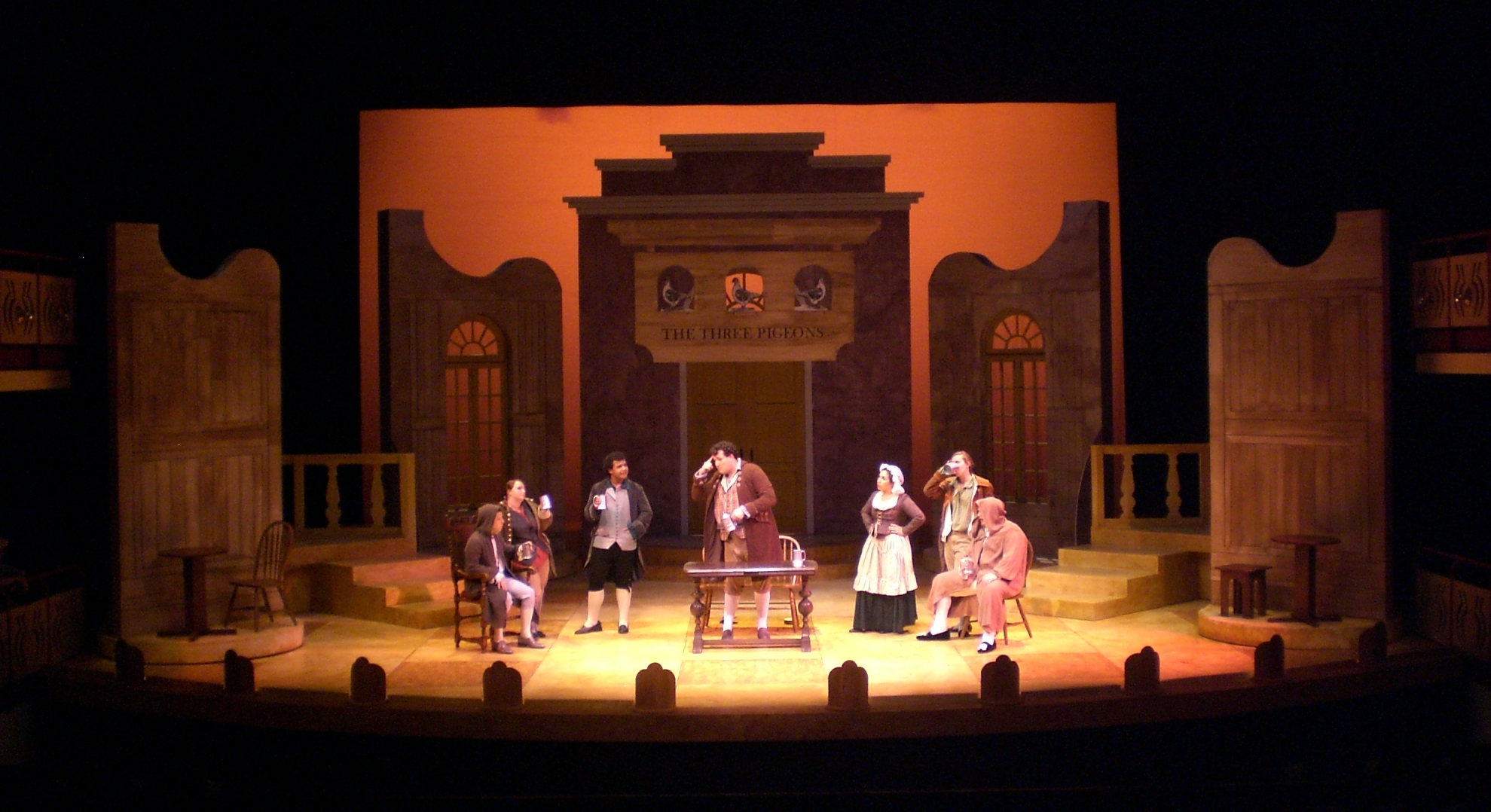 SCENIC DESIGN: She Stoops to Conquer - Tavern Scene Whittier College 2012