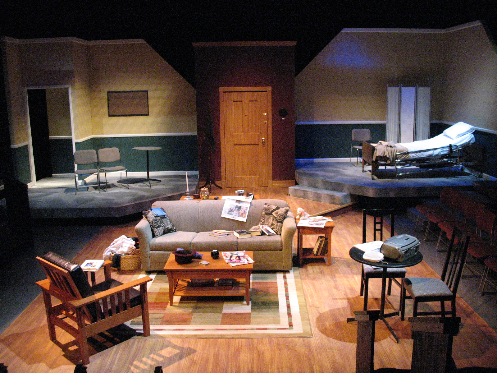 SCENIC DESIGN: Stop Kiss Whittier College 2007