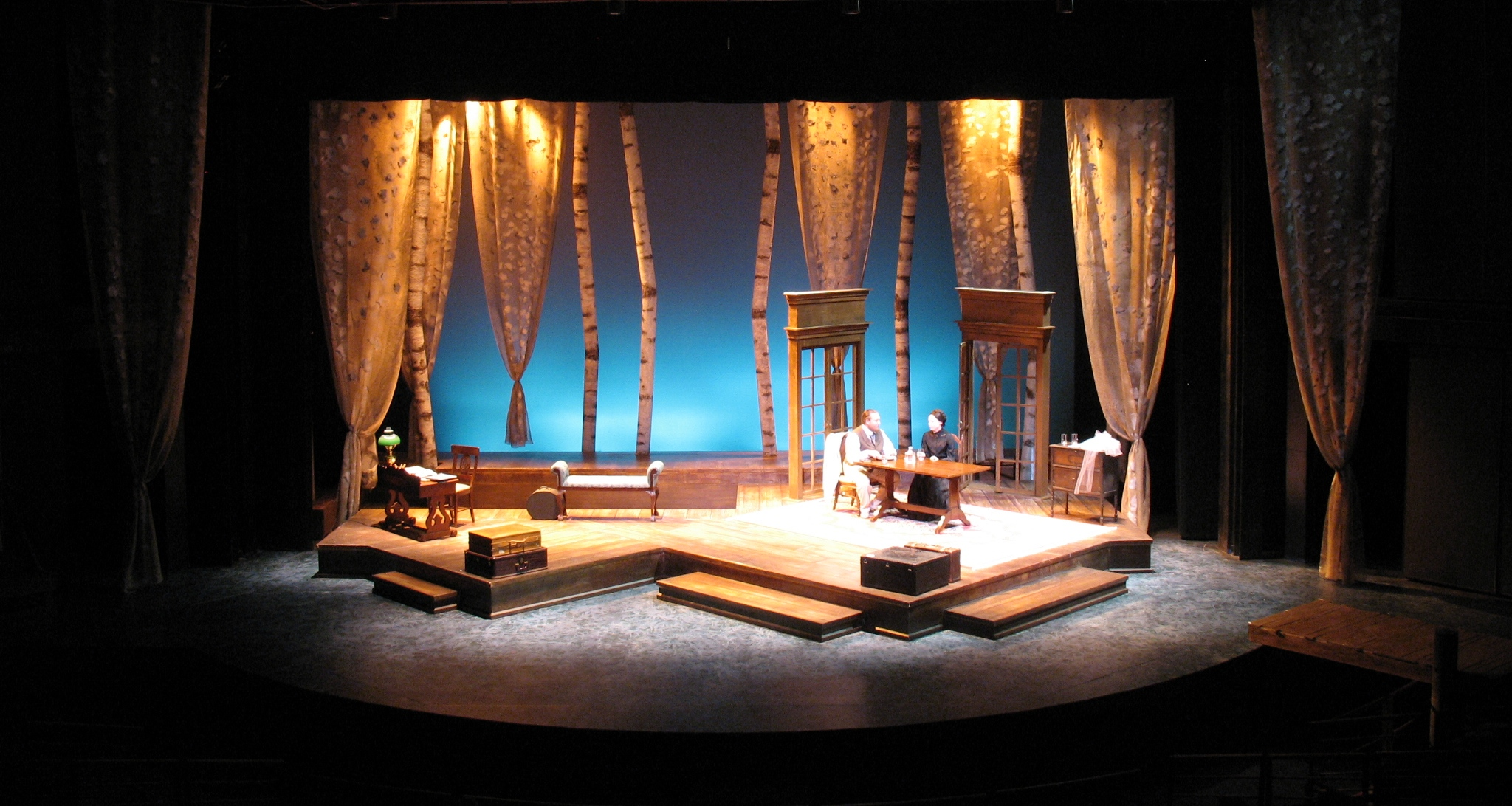 SCENIC DESIGN: The Notebook of Trigorin - Act III Pomona College 2010