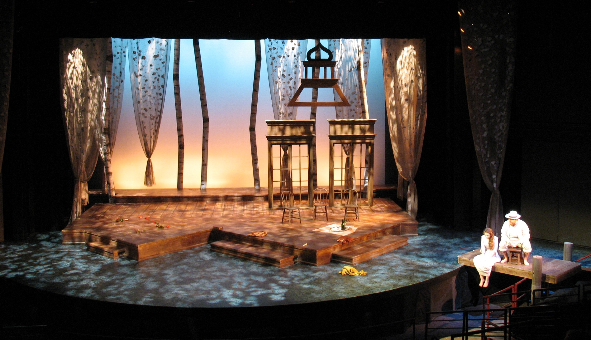 SCENIC DESIGN: The Notebook of Trigorin - Act II Pomona College 2010