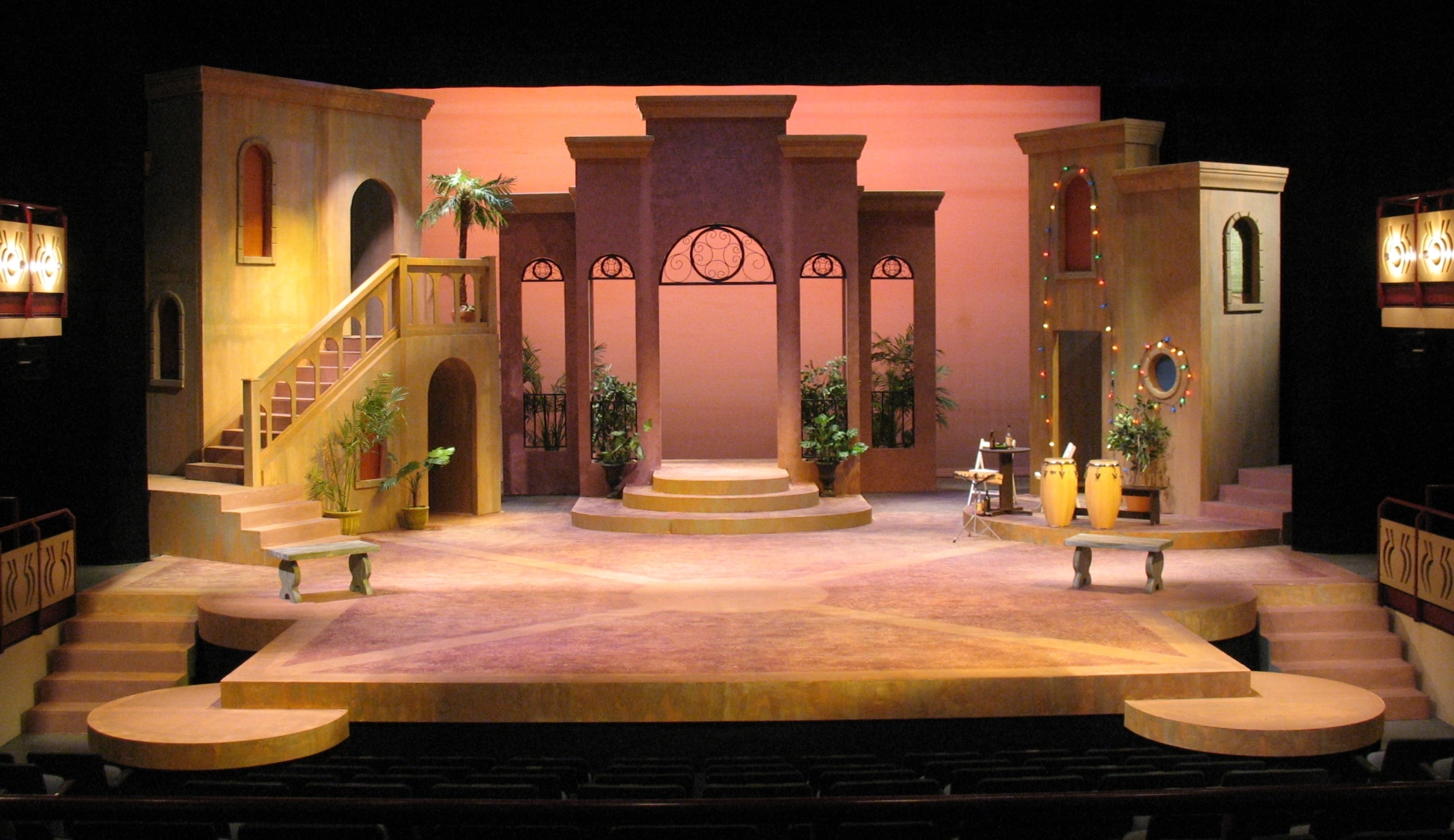 SCENIC & LIGHTING DESIGN: Twelfth Night Whittier College 2007