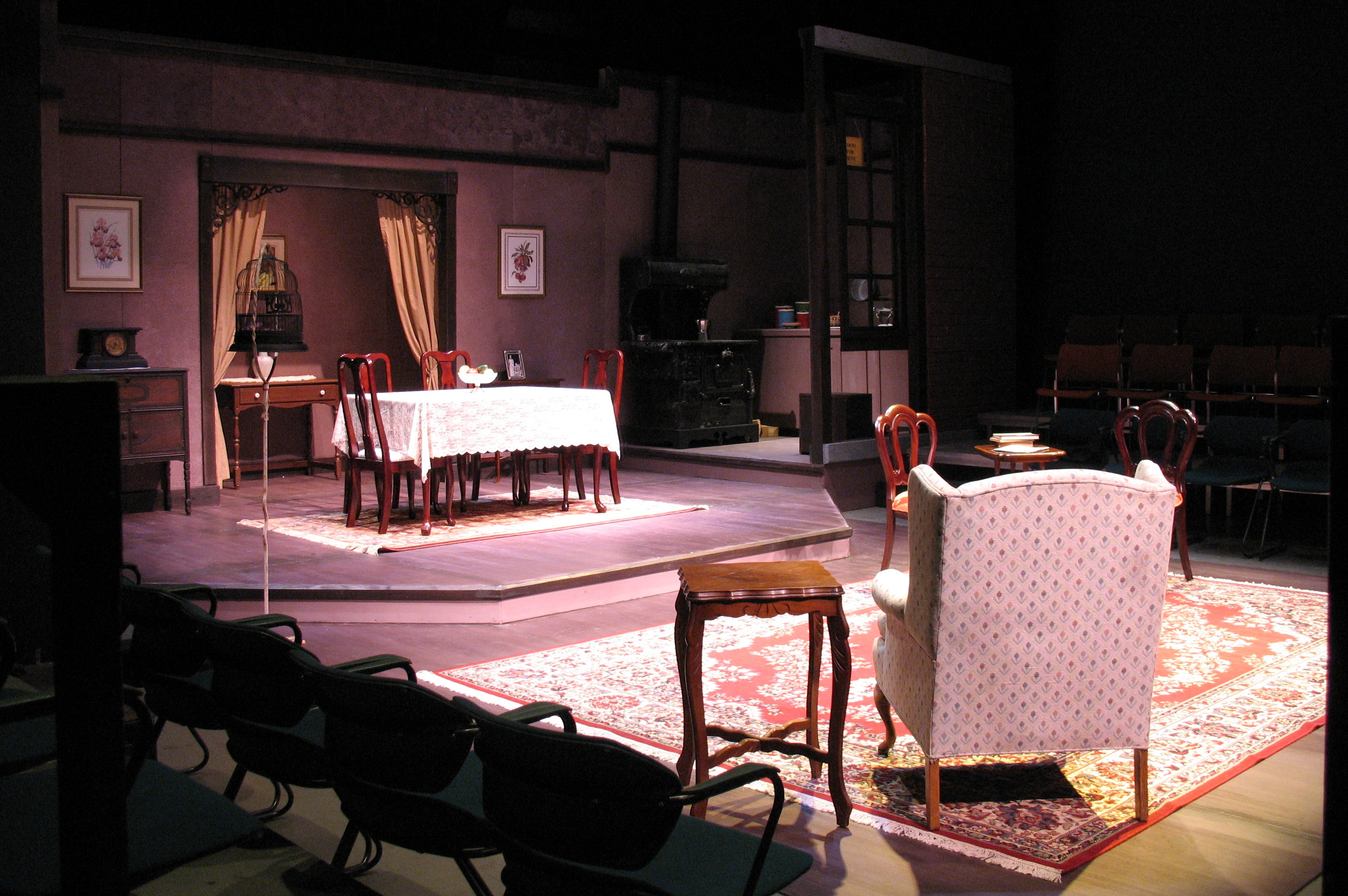 SCENIC & LIGHTING DESIGN: The Underpants Whittier College 2008